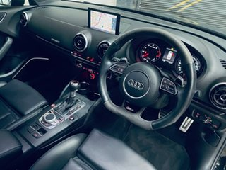 2016 Audi RS 3 8V MY16 Sportback S Tronic Quattro Black 7 Speed Sports Automatic Dual Clutch.