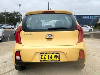 2016 Kia Picanto TA MY17 SI Yellow 4 Speed Automatic Hatchback