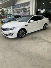2011 Kia Optima TF MY12 Platinum White 6 Speed Sports Automatic Sedan