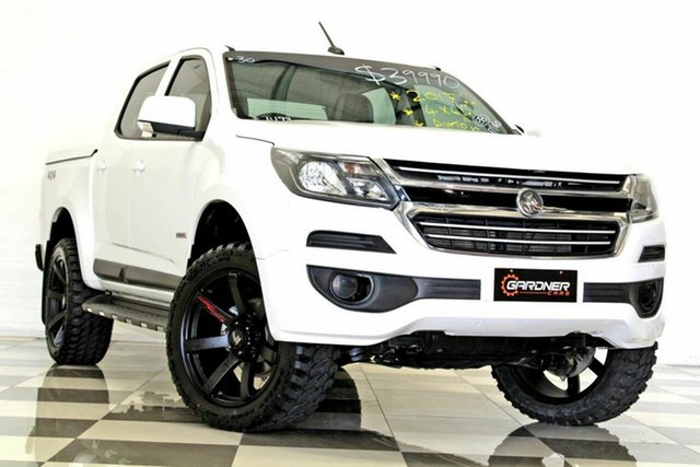 Used Holden Colorado RG MY18 LS (4x4) Burleigh Heads, 2017 Holden Colorado RG MY18 LS (4x4) White 6 Speed Automatic Crew Cab Pickup