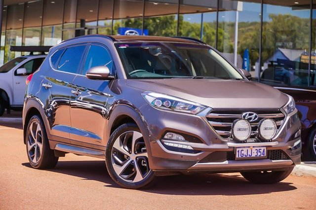 Used Hyundai Tucson TLE Highlander AWD Gosnells, 2016 Hyundai Tucson TLE Highlander AWD Brown 6 Speed Sports Automatic Wagon