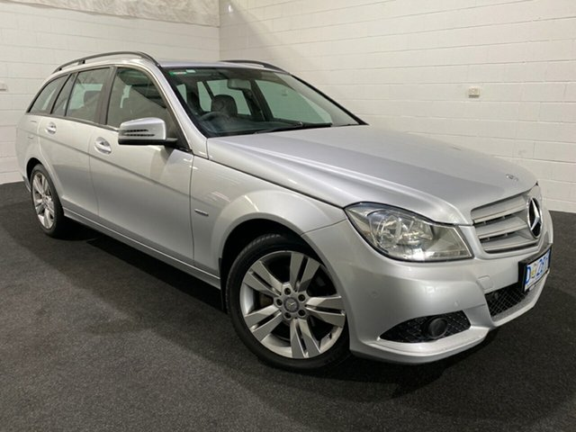 Used Mercedes-Benz C-Class W204 MY11 C200 BlueEFFICIENCY Estate 7G-Tronic + Avantgarde Glenorchy, 2011 Mercedes-Benz C-Class W204 MY11 C200 BlueEFFICIENCY Estate 7G-Tronic + Avantgarde Silver