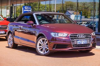 2014 Audi A3 8V MY15 Attraction S Tronic Maroon 7 Speed Sports Automatic Dual Clutch Cabriolet.