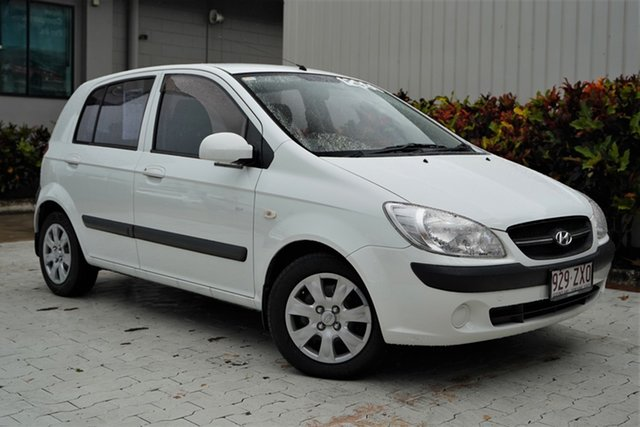 Used Hyundai Getz TB MY09 SX Cairns, 2010 Hyundai Getz TB MY09 SX White 4 Speed Automatic Hatchback