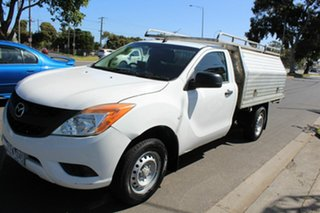 2012 Mazda BT-50 UP0YF1 XT Freestyle 4x2 Hi-Rider White 6 Speed Manual Cab Chassis
