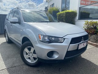 2010 Mitsubishi Outlander ZH MY11 LS 2WD Silver 6 Speed Constant Variable Wagon.