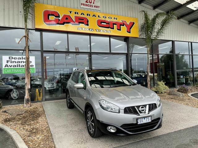 Used Nissan Dualis J10 MY13 ST (4x2) Traralgon, 2013 Nissan Dualis J10 MY13 ST (4x2) Silver 6 Speed CVT Auto Sequential Wagon