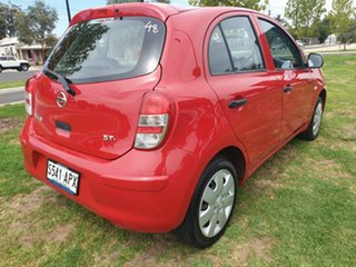 2012 Nissan Micra K13 ST-L Red 4 Speed Automatic Hatchback.