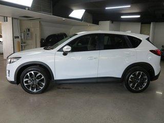 2016 Mazda CX-5 KE1032 Grand Touring SKYACTIV-Drive i-ACTIV AWD White 6 Speed Sports Automatic Wagon