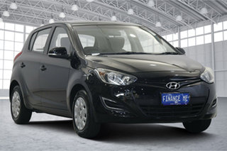 2014 Hyundai i20 PB MY15 Active Black 4 Speed Automatic Hatchback.
