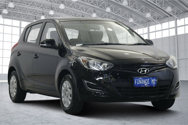 Used Hyundai i20 PB MY15 Active Victoria Park, 2014 Hyundai i20 PB MY15 Active Black 4 Speed Automatic Hatchback