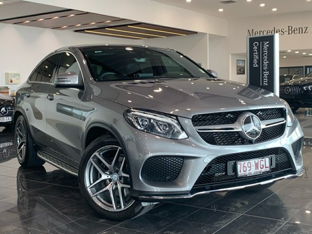 Used Mercedes-Benz GLE-Class C292 GLE350 d Coupe 9G-Tronic 4MATIC Hervey Bay, 2015 Mercedes-Benz GLE-Class C292 GLE350 d Coupe 9G-Tronic 4MATIC Silver 9 Speed Sports Automatic