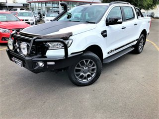 2018 Ford Ranger PX MkII 2018.00MY FX4 Double Cab White 6 Speed Manual Utility.