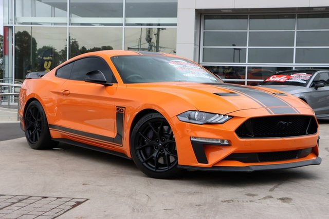 Used Ford Mustang FN 2020MY R-Spec Liverpool, 2019 Ford Mustang FN 2020MY R-Spec Twister Orange 6 Speed Manual Fastback