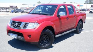 2011 Nissan Navara D40 ST-X Red 5 Speed Automatic Utility