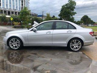 2011 Mercedes-Benz C-Class W204 MY10 C200 CGI Avantgarde Silver 5 Speed Sports Automatic Sedan.