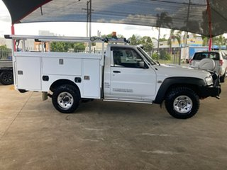2015 Nissan Patrol MY14 DX (4x4) White 5 Speed Manual Leaf Cab Chassis.