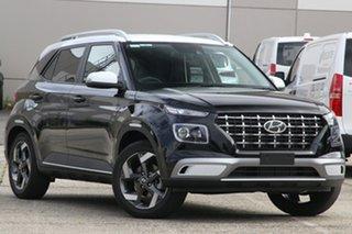 2020 Hyundai Venue QX.V3 MY21 Elite Phantom Black 6 Speed Automatic Wagon.