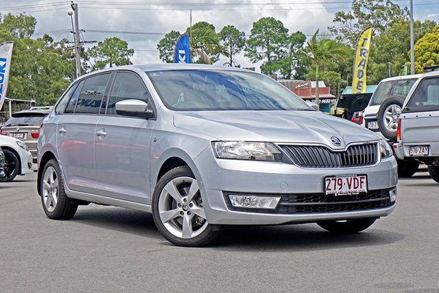 Used Skoda Rapid NH MY14 Ambition Spaceback DSG Chandler, 2014 Skoda Rapid NH MY14 Ambition Spaceback DSG Silver 7 Speed Sports Automatic Dual Clutch