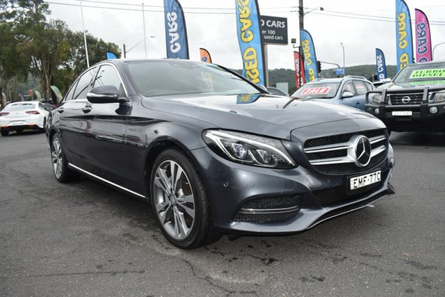 Used Mercedes-Benz C-Class W205 C250 7G-Tronic + Gosford, 2014 Mercedes-Benz C-Class W205 C250 7G-Tronic + Grey 7 Speed Sports Automatic Sedan