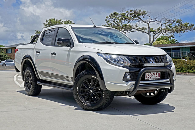 Used Mitsubishi Triton MQ MY18 GLS Double Cab Capalaba, 2018 Mitsubishi Triton MQ MY18 GLS Double Cab White 5 Speed Sports Automatic Utility