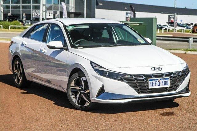 Demo Hyundai i30 CN7.V1 MY21 Active Rockingham, 2020 Hyundai i30 CN7.V1 MY21 Active Polar White 6 Speed Sports Automatic Sedan