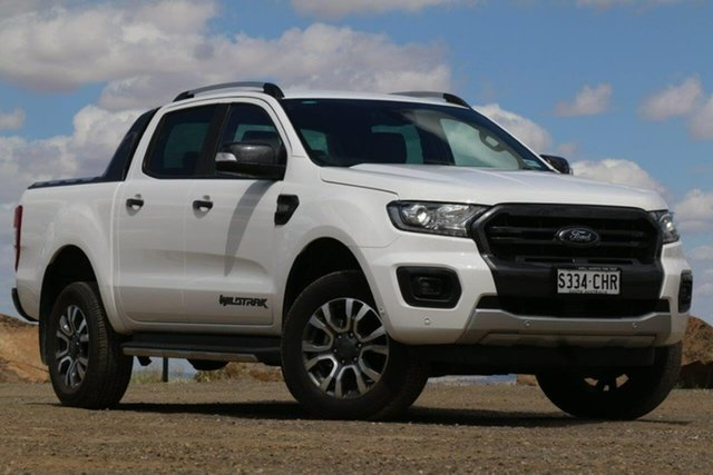 Used Ford Ranger PX MkIII 2019.00MY Wildtrak Clare, 2019 Ford Ranger PX MkIII 2019.00MY Wildtrak White 6 Speed Sports Automatic Double Cab Pick Up