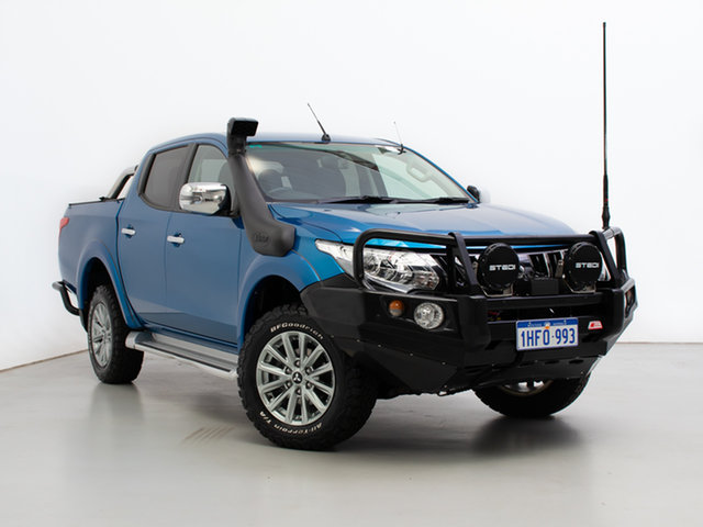 Used Mitsubishi Triton MQ MY17 GLS (4x4), 2017 Mitsubishi Triton MQ MY17 GLS (4x4) Blue 6 Speed Manual Dual Cab Utility