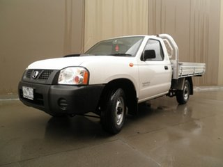 2013 Nissan Navara D22 S5 DX 4x2 Solid White 5 Speed Manual Cab Chassis.