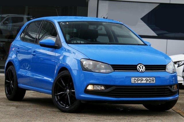 Used Volkswagen Polo 6R MY17 66TSI DSG Trendline Homebush, 2017 Volkswagen Polo 6R MY17 66TSI DSG Trendline Blue 7 Speed Sports Automatic Dual Clutch Hatchback