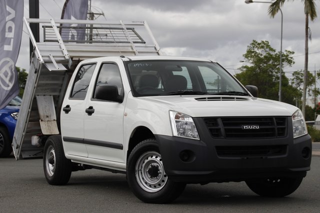 Used Isuzu D-MAX MY09 SX 4x2 Rocklea, 2010 Isuzu D-MAX MY09 SX 4x2 White 5 Speed Manual Utility