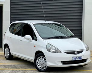 2005 Honda Jazz GD MY05 VTi White 7 Speed Constant Variable Hatchback.