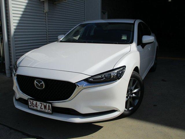 Used Mazda 6 GL1033 Sport SKYACTIV-Drive Caboolture, 2019 Mazda 6 GL1033 Sport SKYACTIV-Drive White 6 Speed Sports Automatic Sedan