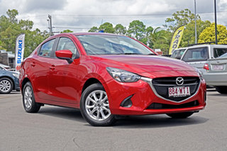 2016 Mazda 2 DJ2HA6 Maxx SKYACTIV-MT Burgundy 6 Speed Manual Hatchback.