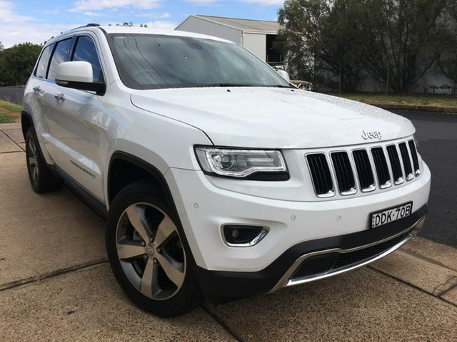 Used Jeep Grand Cherokee WK Limited Dubbo, 2015 Jeep Grand Cherokee WK Limited White Sports Automatic