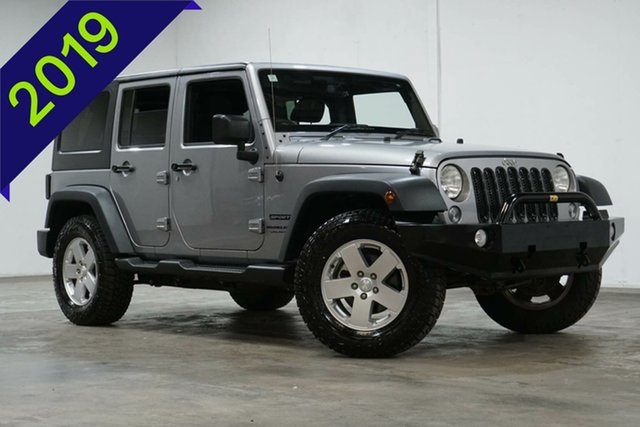 Used Jeep Wrangler JK MY18 Unlimited Sport Welshpool, 2018 Jeep Wrangler JK MY18 Unlimited Sport Silver 6 Speed Manual Softtop
