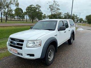 2008 Ford Ranger PJ XL Crew Cab 4x2 Hi-Rider White 5 Speed Manual Utility