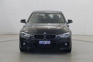 2018 BMW 3 Series F30 LCI 330i M Sport Black 8 Speed Sports Automatic Sedan.
