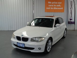 2006 BMW 120i E87 120i White 6 Speed Automatic Hatchback.