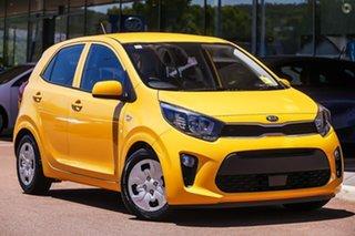 2020 Kia Picanto JA MY21 S Yellow 4 Speed Automatic Hatchback.