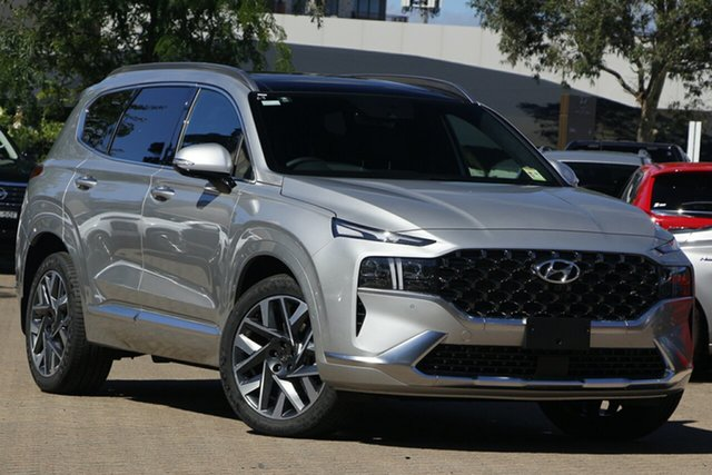 New Hyundai Santa Fe Tm.v3 MY21 Highlander DCT Rutherford, 2020 Hyundai Santa Fe Tm.v3 MY21 Highlander DCT Typhoon Silver 8 Speed Sports Automatic Dual Clutch