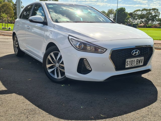 Used Hyundai i30 PD2 MY18 Active Nailsworth, 2018 Hyundai i30 PD2 MY18 Active White 6 Speed Sports Automatic Hatchback
