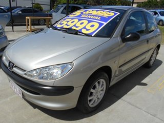 2003 Peugeot 206 T1 MY03 XR S Silver 5 Speed Manual Hatchback.