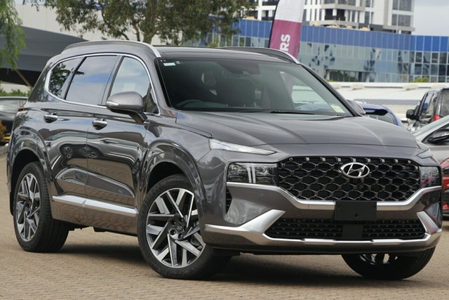 New Hyundai Santa Fe Tm.v3 MY21 Highlander DCT Tuggerah, 2020 Hyundai Santa Fe Tm.v3 MY21 Highlander DCT Taiga Brown / 8 Speed Sports Automatic Dual Clutch