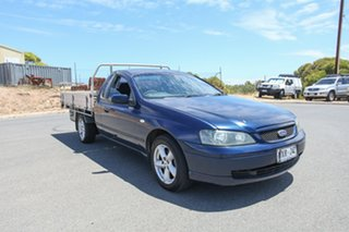 2003 Ford Falcon BA XLS Super Cab Blue 4 Speed Sports Automatic Cab Chassis.