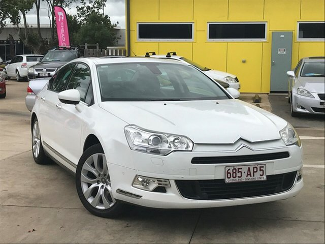 Used Citroen C5 X7 Exclusive HDi Toowoomba, 2009 Citroen C5 X7 Exclusive HDi White 6 Speed Sports Automatic Sedan
