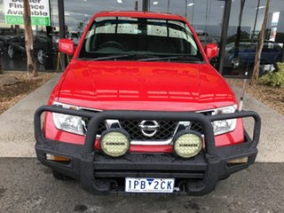 2010 Nissan Navara D40 ST (4x4) Red 6 Speed Manual Dual Cab Pick-up.
