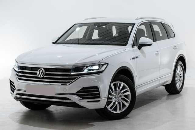 Used Volkswagen Touareg CR MY20 190TDI Tiptronic 4MOTION Berwick, 2019 Volkswagen Touareg CR MY20 190TDI Tiptronic 4MOTION White 8 Speed Sports Automatic Wagon
