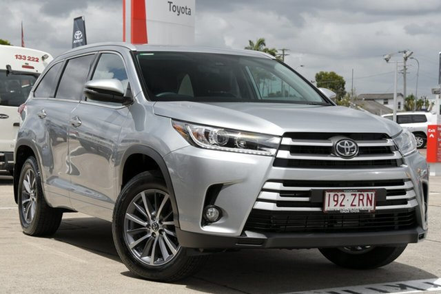 Pre-Owned Toyota Kluger GSU55R GXL AWD Albion, 2019 Toyota Kluger GSU55R GXL AWD Silver 8 Speed Sports Automatic Wagon