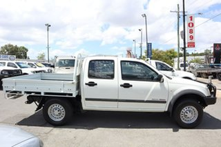 2005 Holden Rodeo RA MY05 LX Crew Cab White 5 Speed Manual Cab Chassis
